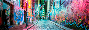 Hosier Lane Panoramic